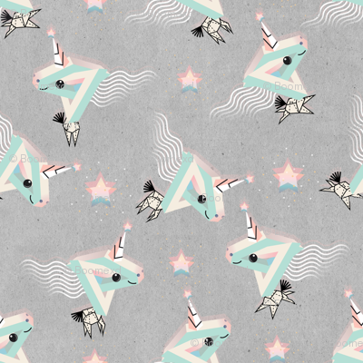 Unicorns for Space unicorn fabric