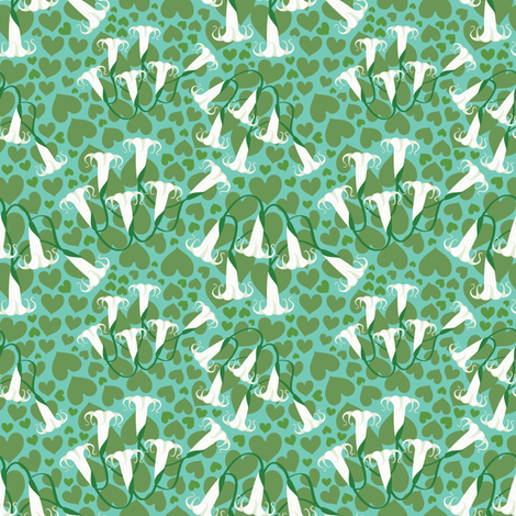 White Trumpets fabric by amyperrotti on Spoonflower - custom fabric