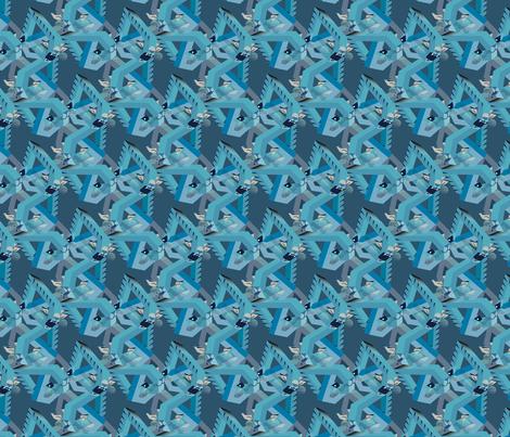 DENIM mr. T the cubist  catz fabric by boomexd on Spoonflower - custom fabric