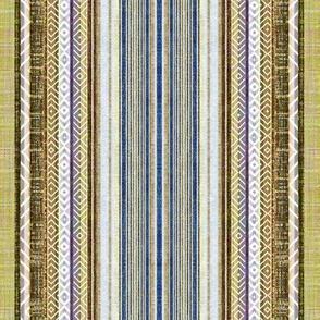 Faux linen ticking Vintage stripe