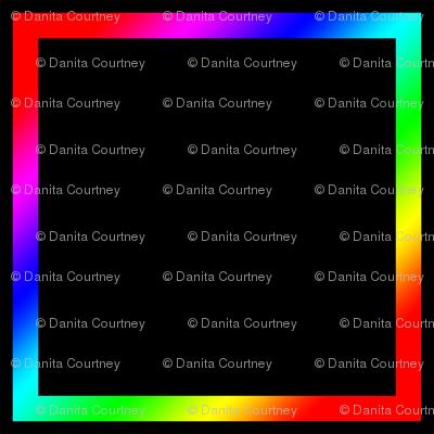 Dean's Rainbow Squares on Black