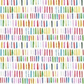 colored pencil marks