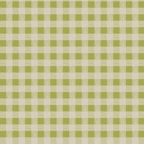 olive/tan checks