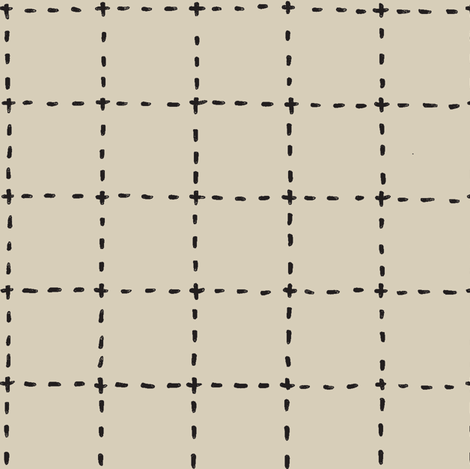 stitched grid in tan and black fabric by ali*b on Spoonflower - custom fabric