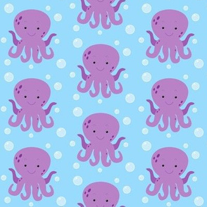 Happy Squid Light Blue
