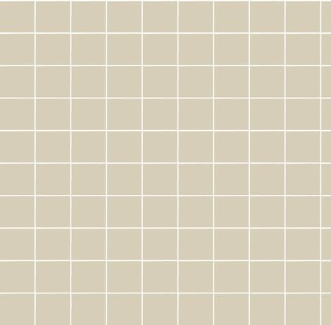 tan grid fabric by ali*b on Spoonflower - custom fabric