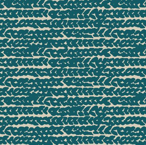 chunky knit - teal blue on tan fabric by ali*b on Spoonflower - custom fabric