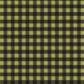 olive/black checks