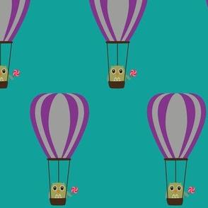 Owl in hot air balloon