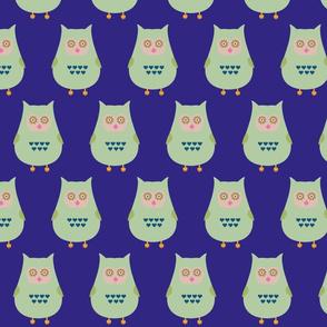 Fat green owl