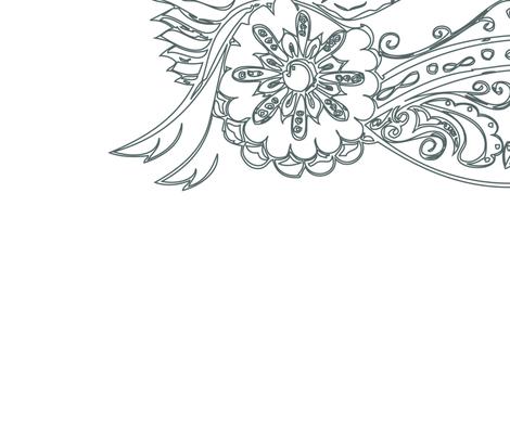 HUGE Grey Owl fabric by reannalilydesigns on Spoonflower - custom fabric