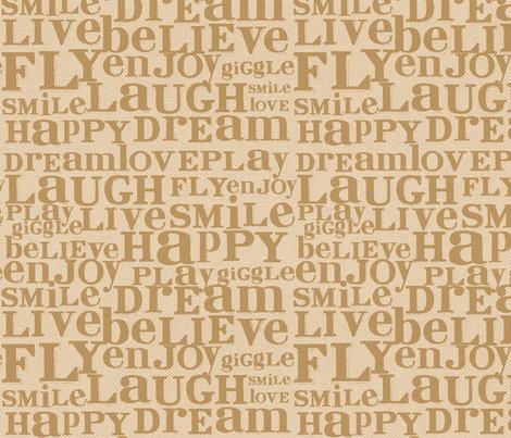 Dream Big Text fabric by cynthiafrenette on Spoonflower - custom fabric