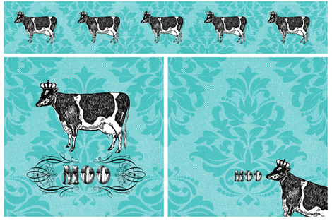 The Royal Moo fabric by cynthiafrenette on Spoonflower - custom fabric