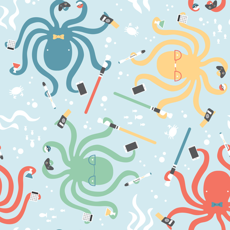 Cephalogeek fabric by robinskarbek on Spoonflower - custom fabric