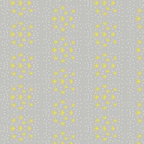 Stars grey/yellow/lavender