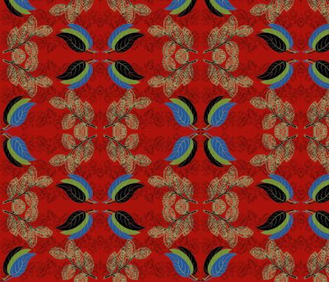 Teale fabric by anijummai on Spoonflower - custom fabric