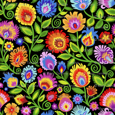 Wildflowers on Black-large