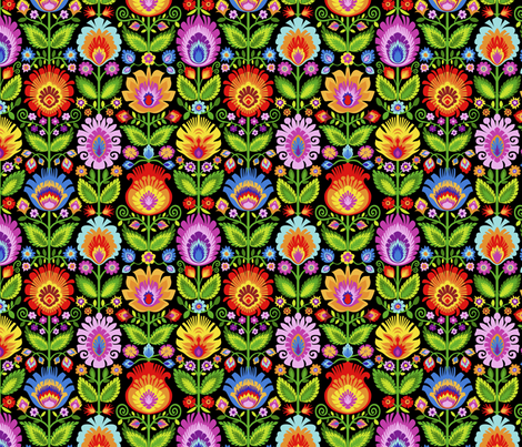 Garden Beds-Large fabric by groovity on Spoonflower - custom fabric