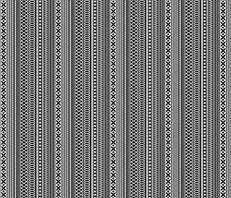 Folk Stripe-Black fabric by groovity on Spoonflower - custom fabric