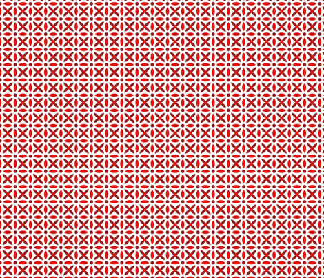 Folk Stitch-Red fabric by groovity on Spoonflower - custom fabric