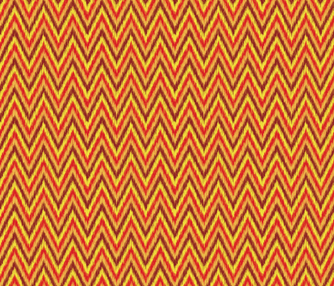 Flame Stitch-Fire fabric by groovity on Spoonflower - custom fabric