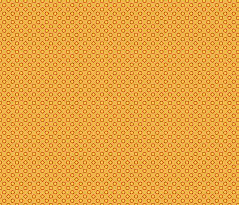 Daisy Dot-Mango fabric by groovity on Spoonflower - custom fabric