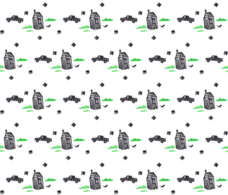 House and Home fabric by christina_rowe on Spoonflower - custom fabric