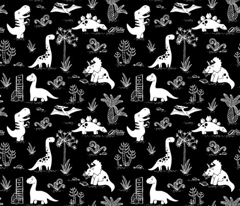 Rlibrary_dinos_whiteonblack_copyright_pinkywittingslow_2015-01_shop_preview