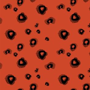 Leopard Confetti: Rust
