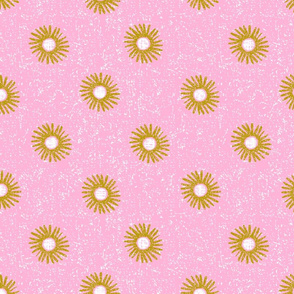 dotty flowers coordinate-spring