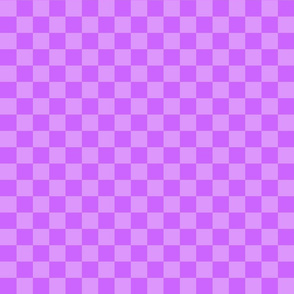 Checks - 1 inch (2.54cm) - Pale Purple (#DD97FC) and Light Purple (#CC65FD)