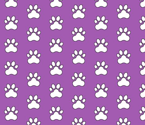 R20150927-144_-_fabric_design_-_pawprint_-_white_on_purple_a25bb1_with_black_outline_shop_preview