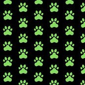 R20150927-077_-_fabric_design_-_pawprint_-_pale_green_89da65_on_black_shop_thumb