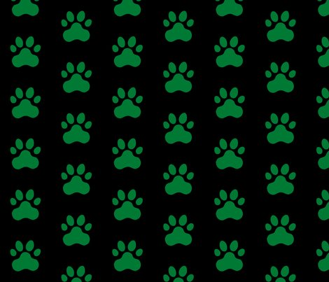 R20150927-079_-_fabric_design_-_pawprint_-_green_007934_on_black_shop_preview