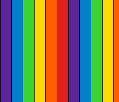 Stripes vertical 2 inch rainbow stripes with inch thick black for Rainbow color stripe watch