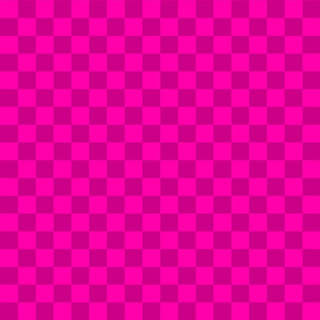 Checks - 1 inch (2.54cm) - Pink (#FF00AA) and Dark Pink (#CC0088)