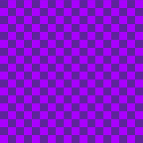Checks - 1 inch (2.54cm) - Dark Purple (#5E259B) and Mid Purple (#AA00FF)