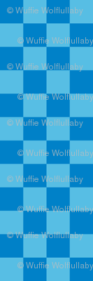 Checks - 1 inch (2.54cm) - Pale Blue (#57BEE4) and Light Blue (#0081C8)