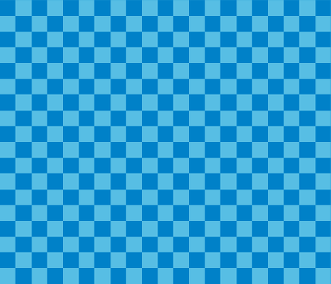 Checks - 1 inch (2.54cm) - Pale Blue (#57BEE4) and Light Blue (#0081C8) fabric by elsielevelsup on Spoonflower - custom fabric