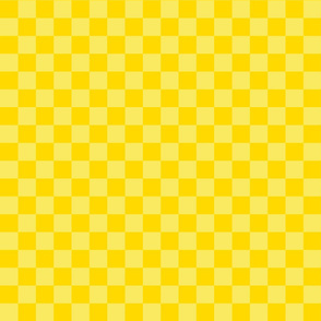 Checks - 1 inch (2.54cm) - Pale Yellow (#F9EA62) and Yellow (#FFD900)