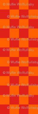 Checks - 1 inch (2.54cm) - Orange (#FF5F00) & Red (#E0201B)