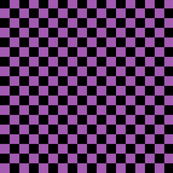 Checks - 1 inch (2.54cm) - Black (#000000) & Light Purple (#A25BB1)