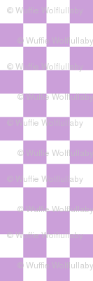 Checks - 1 inch (2.54cm) - White (#FFFFFF) & Pale Purple (#CB9FD9)