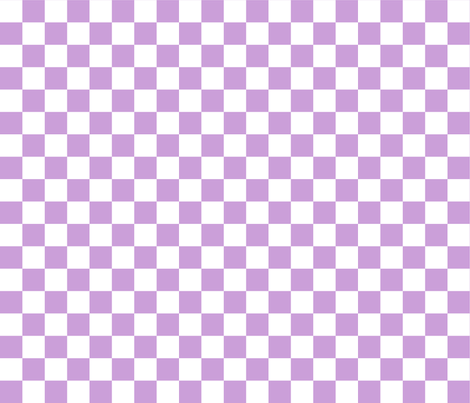 Checks - 1 inch (2.54cm) - White (#FFFFFF) & Pale Purple (#CB9FD9)  fabric by elsielevelsup on Spoonflower - custom fabric