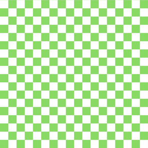 Checks - 1 inch (2.54cm) - White (#FFFFFF) & Green (#89DA65)