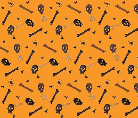 Dem Bones fabric by christina_rowe on Spoonflower - custom fabric