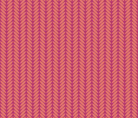 bird leaf pink tangerine fabric by scrummy on Spoonflower - custom fabric