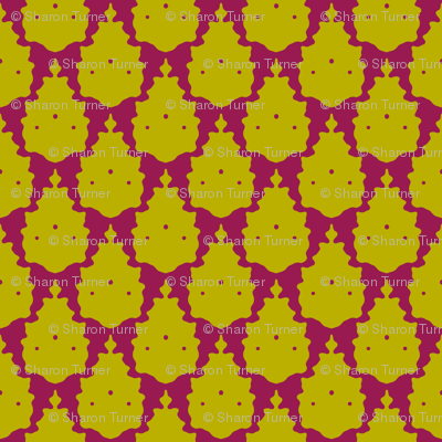bird damask pink chartreuse