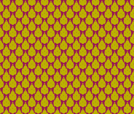 bird damask pink chartreuse fabric by scrummy on Spoonflower - custom fabric