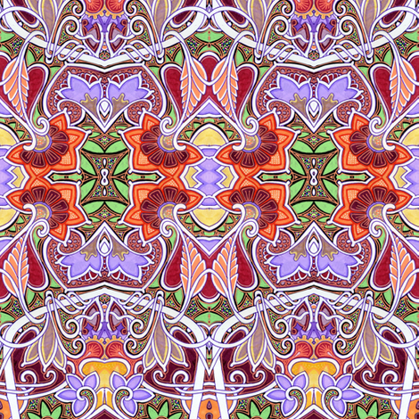 Lavender and La La's fabric by edsel2084 on Spoonflower - custom fabric